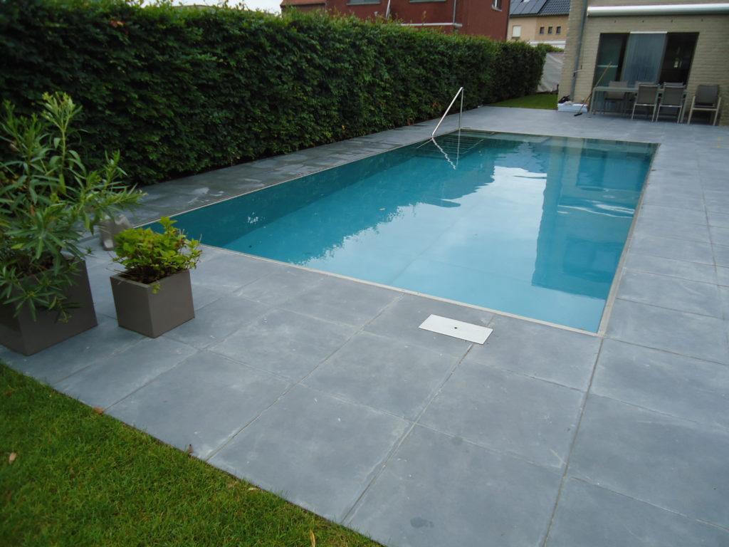 Inox zwembad met trapladder