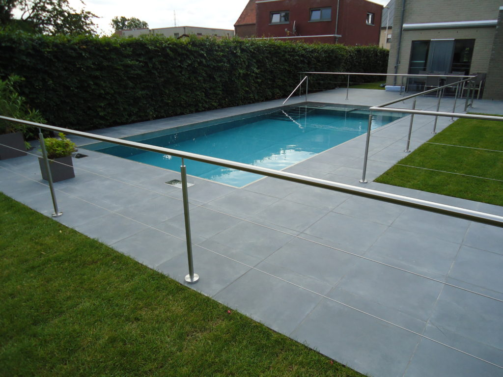Inox zwembad met leuning
