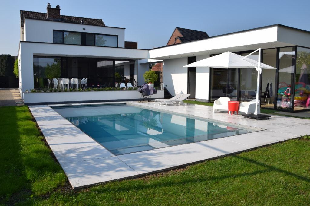 Inox zwembad met terras