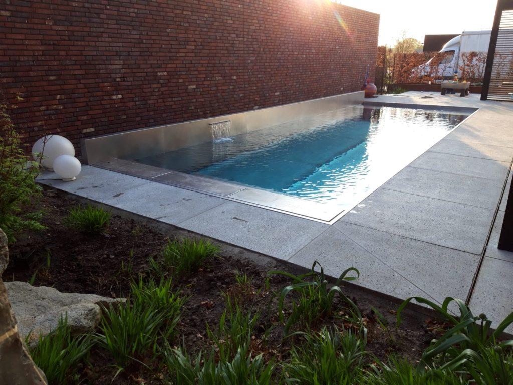 Inox Zwembad na constructie